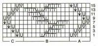 схема - Узор - Ажурные узоры с косами